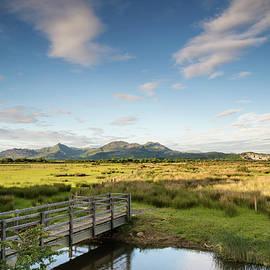 Matthew Gibson - View looking towards Snowdonia mountain range landscape during a