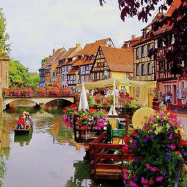 Mario Carini - View of Colmar from the River