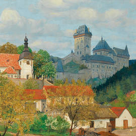 View Of Karlstejn Castle Near Prague by Tavik Frantisek Simon