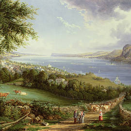 Robert Havell - View of the Hudson River from near Sing Sing, New York