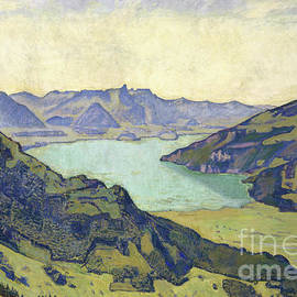 View of the Lake of Thun from Breitlauenen, 1906 - Ferdinand Hodler