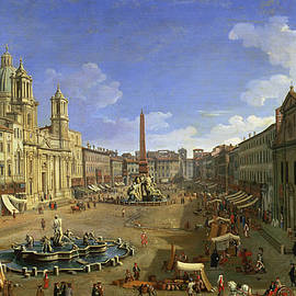 View of the Piazza Navona by Canaletto
