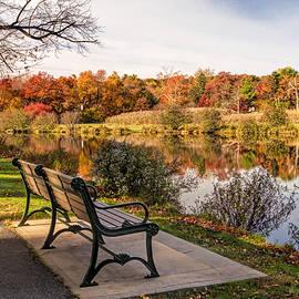 View of Verona Park Verona New Jersey by Geraldine Scull