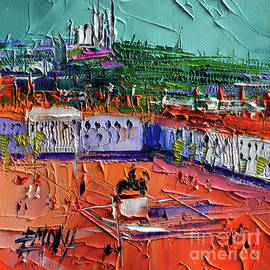 VIEW OVER BELLECOUR SQUARE - Abstract miniature cityscape - Mona Edulesco