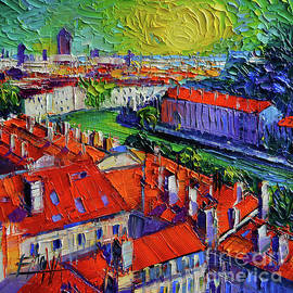 Mona Edulesco - View Over The City Of Lyon France