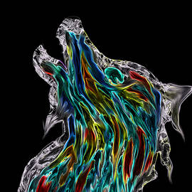 Abstract Angel Artist Stephen K - Viking Howling Wolf