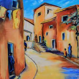 Elise Palmigiani - Village Street in Tuscany