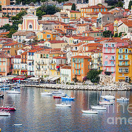 Villefranche-sur-Mer view in French Riviera by Elena Elisseeva