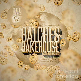 Vintage Bakery Ad - Batches Bakehouse by Jorgo Photography - Wall Art Gallery