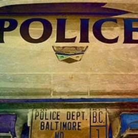 Vintage Baltimore Police Department Car - Marianna Mills