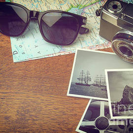 Carlos Caetano - Vintage Camera and Map