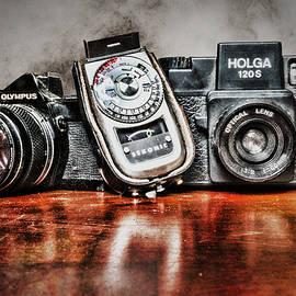 Vintage Cameras and Light Meter by Sharon Popek