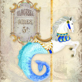 Vintage Circus Carousel - Seahorse by Audrey Jeanne Roberts