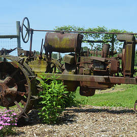 Vintage Country Tractor by Kathy Kelly