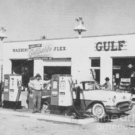 Vintage Gulf Gas Station  by Joseph Baril