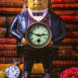 Vintage John Bull Clock With Books - Garry Gay