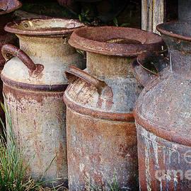 Vintage Milk Cans by Priscilla Burgers