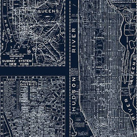 Vintage New York City Street Map - Mindy Sommers
