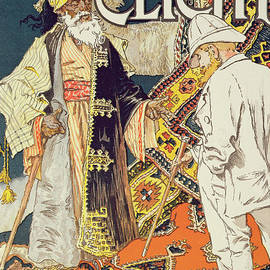 Vintage poster advertising A La Place Clichy, a shop specializing in Oriental goods, 1891 - Eugene Grasset