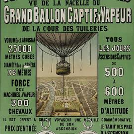 John Stephens - Vintage Poster Of Great Balloon View Of Paris 1878