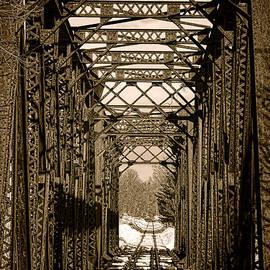 Vintage Railroad Bridge in Snow - Olivier Le Queinec