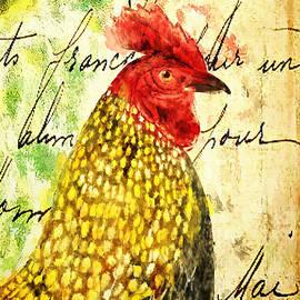 Tina LeCour - Vintage Rooster Portrait