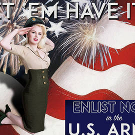 Vintage Style Pinup Recruiting Poster by Rick Berk