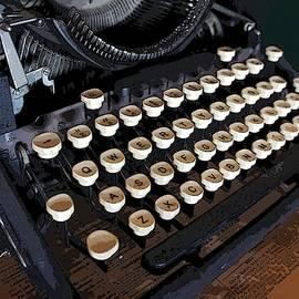 Vintage Underwood Typerwriter Keys