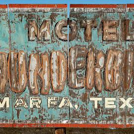 John Stephens - Vintage Weathered Thunderbird Motel Sign Marfa Texas