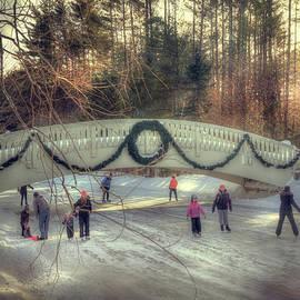 Joann Vitali - Vintage Winter Ice Skating Scene