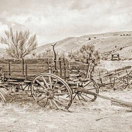 Jennie Marie Schell - Vintage Wooden Wagon Montana