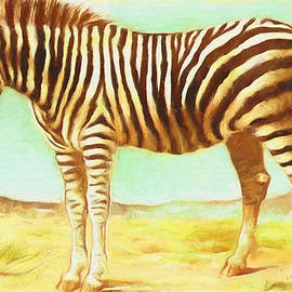 Vintage Zebra - Painting by Ericamaxine Price