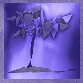 Iris Gelbart - Violet Abstract tree