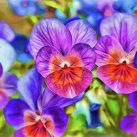 Violets - Painting by Ericamaxine Price