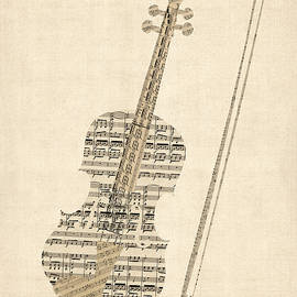 Violin Old Sheet Music by Michael Tompsett