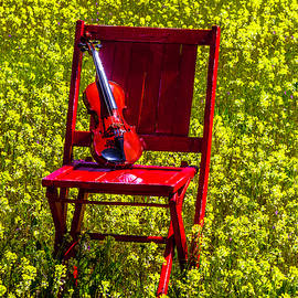 Garry Gay - Violin On Red Wooden Chair