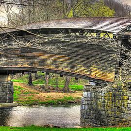 Michael Mazaika - Virginia Country Roads - Humpback Covered Bridge Over Dunlap Creek #14A - Spring, Alleghany County