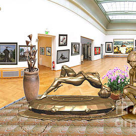 Virtual Exhibition -relaxing statues