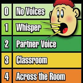 Voice Level Poster -1 by Shevon Johnson