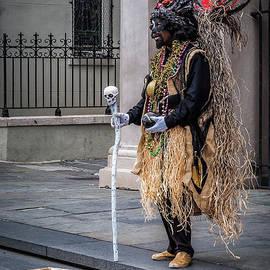 Kathleen K Parker - Voodoo Man in Jackson Square - NOLA