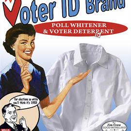 Voter ID Brand by Ricardo Levins Morales