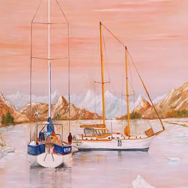 Voyage Au Bout Du Monde - Oil on canvas by Jean-Pierre Ducondi