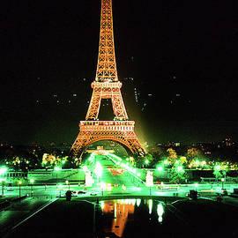 Vue de la tour eiffel by night Paris France  1978 by Mr Pat Hathaway Archives