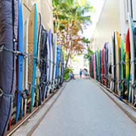 Waikiki Surfboard Storage - Sean Davey