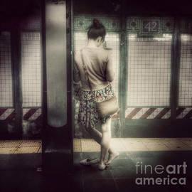 Miriam Danar - Waiting for the Q - 42nd Street Subway Station New York