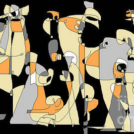 Waiting in Line 3 by Nancy Kane Chapman