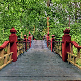 Walking Across Crim Dell Bridge by Jerry Gammon