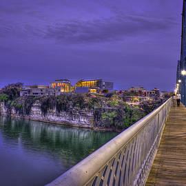 Reid Callaway - Walking In Chattanooga Walnut Street Pedestrian Bridge Hunter Museum of American Art