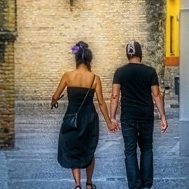 Mary Machare - Walking Hand in Hand - Seville