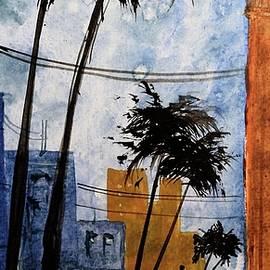 David K Myers - Walking Home, Watercolor